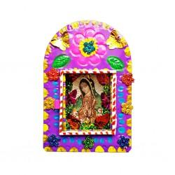 Niche métal Vierge de Guadalupe Violet