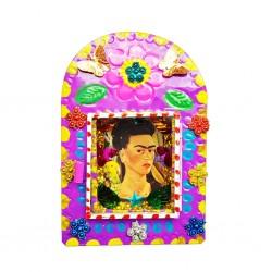 Nicho metal Frida Kahlo Morado