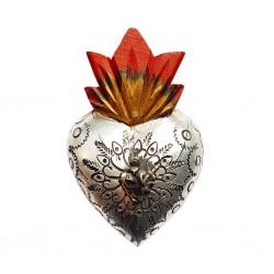 Coeur avec milagro Métal