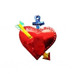 Blue Pierced sacred heart