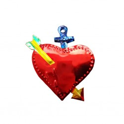 Sagrado corazón perforado Azul