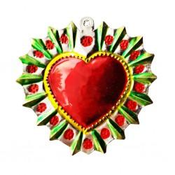 Sagrado corazón Halo florido Verde