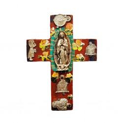 Petite croix Vierge de Guadalupe