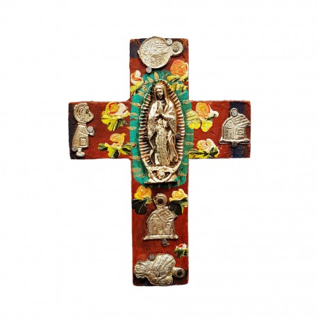 Small Virgin de Guadalupe cross