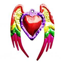 Purple Angel wings Sacred heart