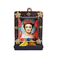 Black Small Frida Kahlo shrine