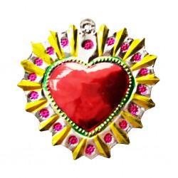 Sagrado corazón Halo florido Amarillo