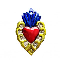 Yellow Sacred heart with border