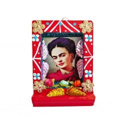Pequeño nicho Frida Kahlo Rojo