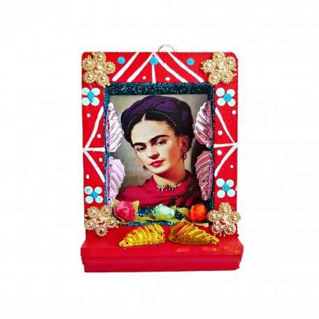 Red Small Frida Kahlo shrine