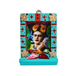 Pequeño nicho Frida Kahlo Turquesa