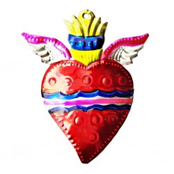 Sacred heart with small wings