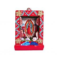 Pequeño nicho Virgen de Guadalupe Rojo