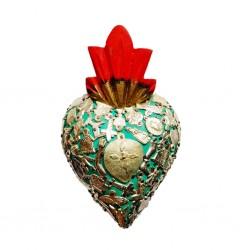 Coeur avec milagros Turquoise