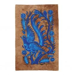 Peinture Otomi Oiseau Bleu