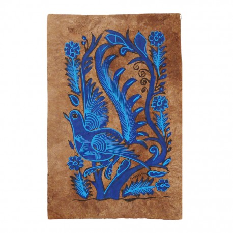 Blue Bird Otomi painting