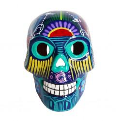 Dark blue Large Mexican skull