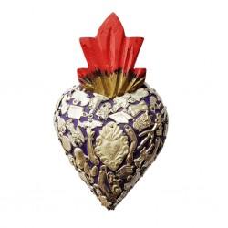 Coeur avec milagros Violet