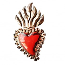 Coeur sacré enflammé Rouge