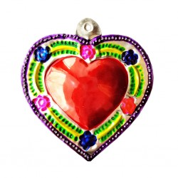 Purple Flowery sacred heart