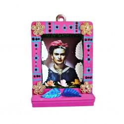 Pequeño nicho Frida Kahlo Rosa