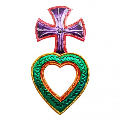 Cross Sacred heart mirror