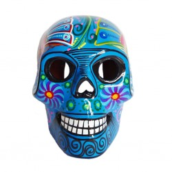 Blue Large Mexican skull