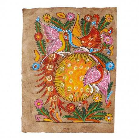 Peacocks Otomi painting / Reserved