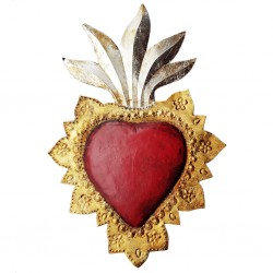 Sagrado corazón llameante grande
