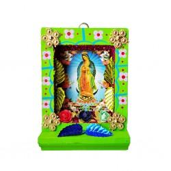 Pequeño nicho Virgen de Guadalupe Verde