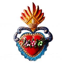 Coeur sacré Couronne de fleurs