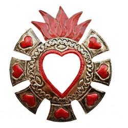 Espejo sagrado corazón Halo de corazones