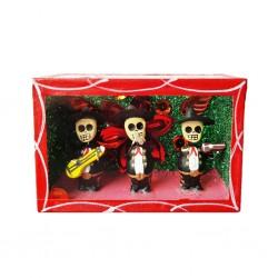 Cajita de calaveras Trio de mariachis