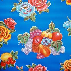 Hule Limones Azul