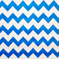 Blue Zigzag oilcloth