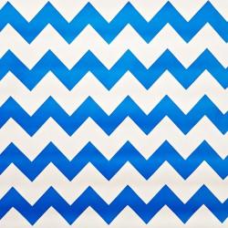 Toile cirée Zigzag Bleu