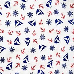 Navy Blue Nautico oilcloth