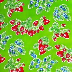 Hule Fresas Verde