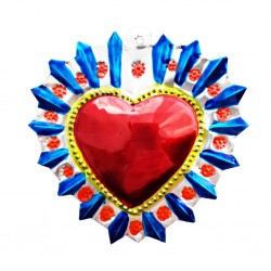 Blue Flowery halo Sacred heart