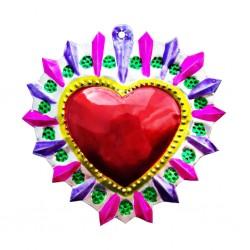 Sagrado corazón Halo florido Rosa