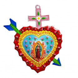 Virgin of Guadalupe painted heart