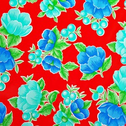 Red Capullo oilcloth offcut