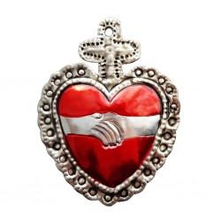 Sagrado corazón Apretón de manos