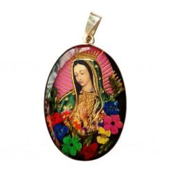 Pendentif argent Vierge de Guadalupe