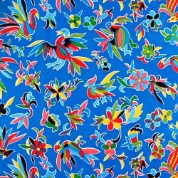 Recorte de hule Otomi Azul