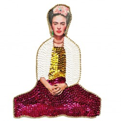 Large Frida Kahlo sequin patch