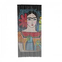 Cortina de puerta Frida ilustración