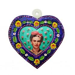 Coeur peint Frida Kahlo Turquoise