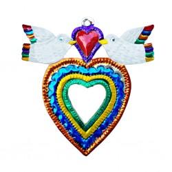 Doves Sacred heart mirror