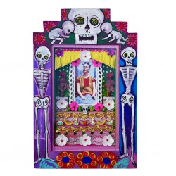 Pink Frida Ofrenda Painted shrine